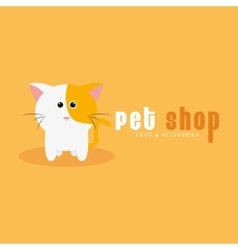 Pet shop background vector