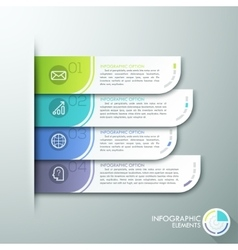 Modern paper infographics options banner vector
