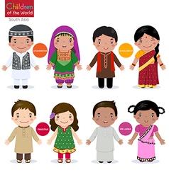 Children of the world Afghanistan Bangladesh vector image