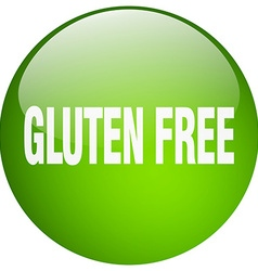 Gluten free green round gel isolated push button vector