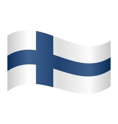 Flag of finland waving vector