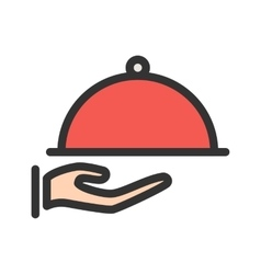 Serve dinner vector