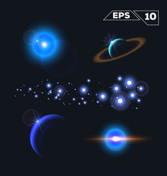 abstract space elements vector image