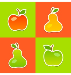 Apples Pears vector image vector image