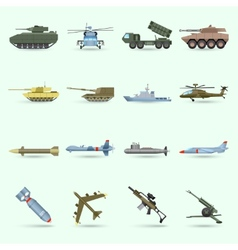 Army Icons Set vector image vector image