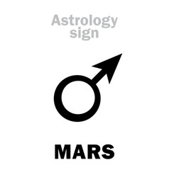 astrology planet mars male vector image vector image