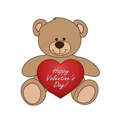 bear and heart vector image