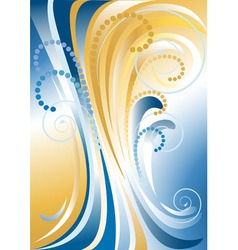 Blue with yellow stripes background vector image