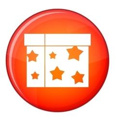 Box magician icon flat style vector