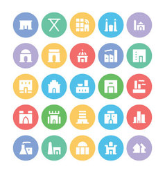 Building and Furniture Icons 4 vector image