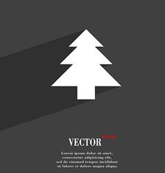 Christmas tree icon symbol flat modern web design vector