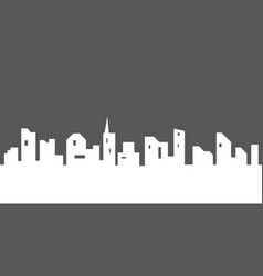 city silhouette with windows vector image