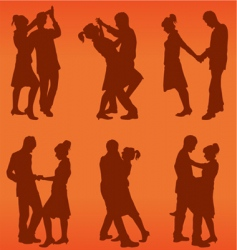 couple dance vector image vector image