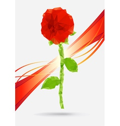 Crystal rose vector image