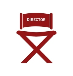 Director chair over white vector