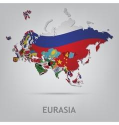 eurasia vector image vector image