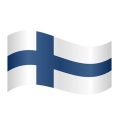 Flag of Finland waving vector image