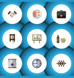 flat icon oneday set of whiteboard partnership vector image vector image
