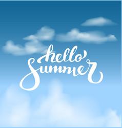 hello summer on the skybrush handwritten vector image