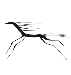 Horse tiny drowing vector image