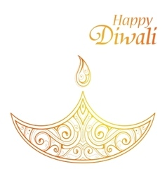 Indian festival diwali greeting card design vector