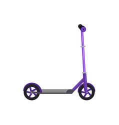 Kick scooter isolated life vector