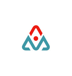 letter a triangle abstract logo vector image