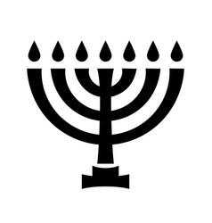 Menorah ancient hebrew sacred seven-candleholder vector