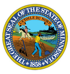 minnesota state seal vector image vector image