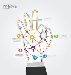 Modern design hand dot minimal style infographic vector
