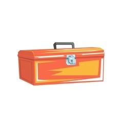 Orange metal plumbing instruments container vector