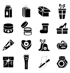 Packaging icons set simple style vector image vector image