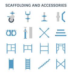Scaffolding pipe icon vector
