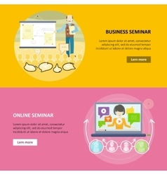 Set of business education web banners vector