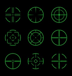 Set of crosshairs target icons vector
