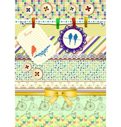 Set of patterns frames and borders for vector image vector image