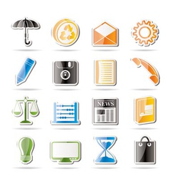 simple business and office internet icons vector image