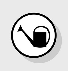Watering sign flat black icon in white vector