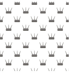 wireless router pattern vector image vector image