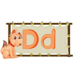 Alphabet letter on a canvas vector