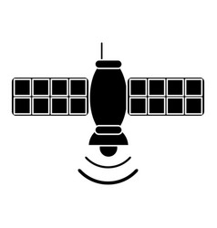 silhouette satellite telecommunication transmitter vector image