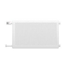 Water heating radiator element realistic image vector