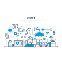 Doctor and special tools atmosphere equipment vector