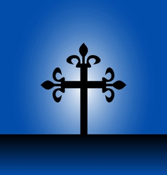 Cross with light vector