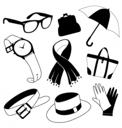 Fashion accessories vector