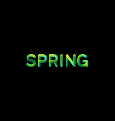 3d gradient spring season sign vector image vector image