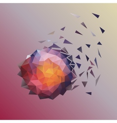 Abstract low poly design vector