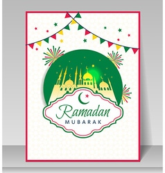 Ramadan kareem celebration with mosque vector