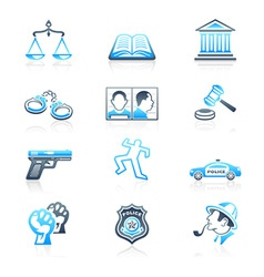 Law and order icons | marine series vector