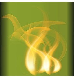 Abstract fire flames on a green background vector